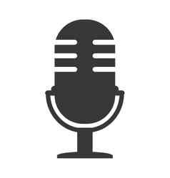 microphone audio device isolated icon vector image