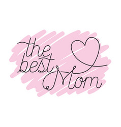 Mom best label isolated icon vector