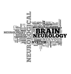 Neurological word cloud concept vector