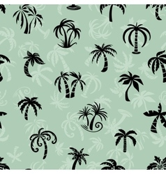 Palms Travel Pattern vector image
