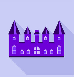 purple kingdom palace icon flat style vector image