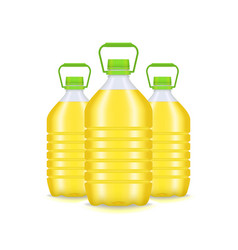 realistic detailed 3d vegetable oil plastic bottle vector image