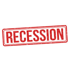 recession sign or stamp vector image