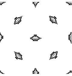 Red scissor car jack pattern seamless black vector