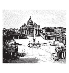 Rome st peters is considered its own city vintage vector