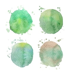 Set of watercolor splashes on white vector
