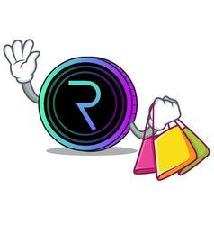 Shopping request network coin character cartoon vector