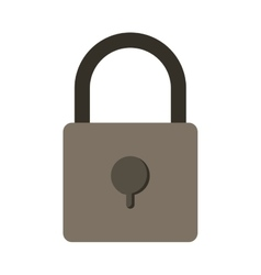 Silhouette with padlock gray scale vector