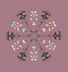 Snowflake isolated on pink background winter vector