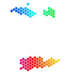 Spectrum hexagon usa virgin islands map vector