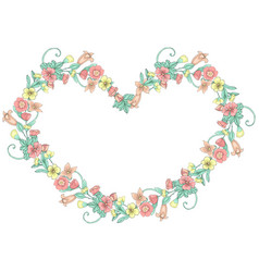 Spring doodle flowers vector