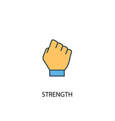 Strength concept 2 colored line icon simple vector