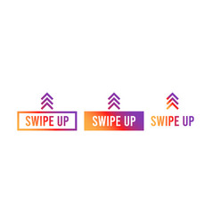 swipe up set stories stories swipe button vector image