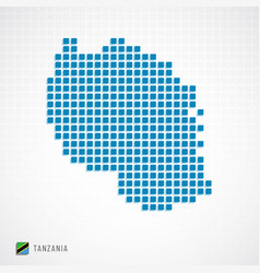 Tanzania map and flag icon vector