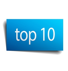 Top 10 blue paper sign isolated on white vector