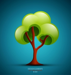 tree on a blue background design element vector image