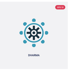 Two color dharma icon from religion concept vector