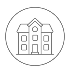 Two storey detached house line icon vector image