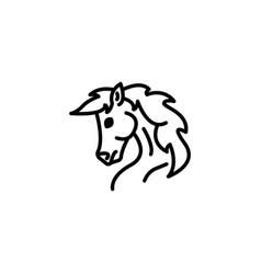 web line icon horse wild animals livestock vector image
