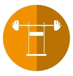 Weight barbell equipment fitness gym shadow vector