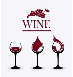 Wine shop design vector image