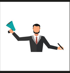 business man office job stress work vector image vector image