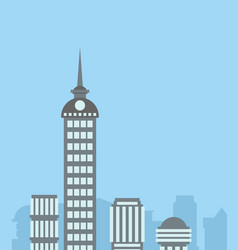 city landscape skyscrapers background capital vector image