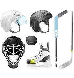 hockey accessories vector image vector image
