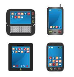 touchscreen smartphones vector image