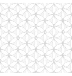 White and gray floral seamless pattern vector image