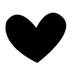 black heart romance love decoration vector image vector image