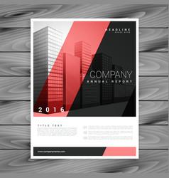 red and black modern brochure flyer design vector image