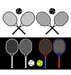 Tennis rackets vector image vector image