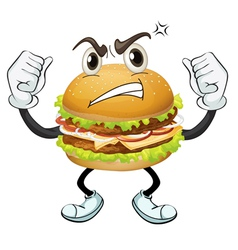 a burger vector image vector image
