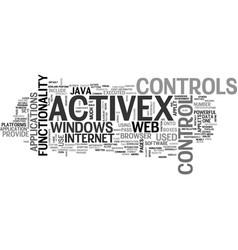 activex control text word cloud concept vector image vector image