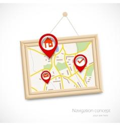 Navigration map vector image