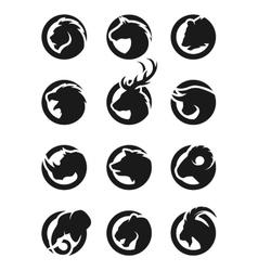 Set animal logos vector image vector image