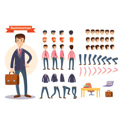 set of cartoon for creating a vector image