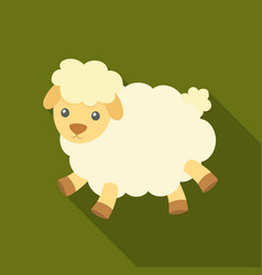 toy sheep icon in flate style isolated on white vector image