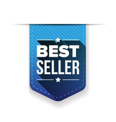 Best Seller blue ribbon vector image vector image