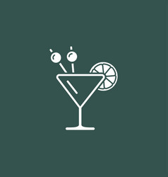 cocktail modern icon vector image