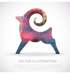 Colorful geometric shape of the Goat vector image vector image