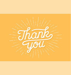 hand lettering thank you vector image vector image