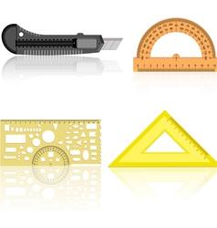 Knife ruler protractor vector