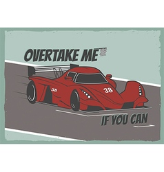 Race car poster vector image