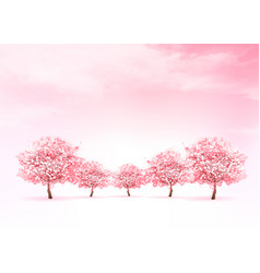spring nature background with a pink blooming vector image vector image