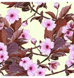 Vintage wallpaper seamless pattern with pink vector image vector image