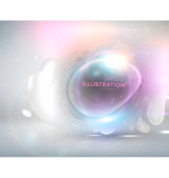 White Bubble Backdrop vector image vector image