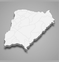 3d isometric map corrientes is a province vector