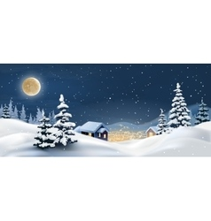 A winter landscape vector